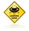 Spaceship landing zone vector image