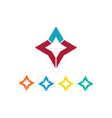 star icon colored logo vector image