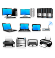 Computers Printers Technology Electronics vector image vector image