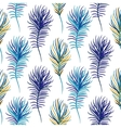 Bird blue seamless pattern vector image