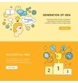 Generation Successful Idea Banners vector image