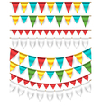Buntings - Garlands vector image vector image
