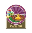 Casino Roulette and counter vector image vector image