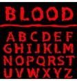 Blood letter set vector image