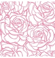 Seamless pattern background of rose flowers vector image