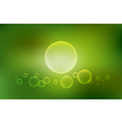 Abstract blurred background with bubbles vector image