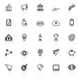 Startup business line icons with reflect on white vector image