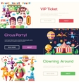 Flat design circus and carnival banners headers vector image
