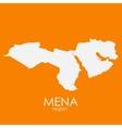 Mena Region Map vector image