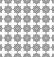 Monochrome seamless pattern in islamic motif vector image vector image