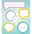 Paper clouds and speech bubbles vector image