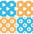 Play button pattern set colored vector image