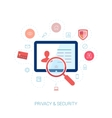 Protect network privacy and data security flat vector image