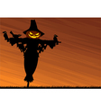 scarecrow background vector image