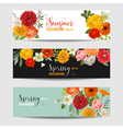 Summer Floral Banners and Tags Set vector image vector image