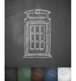 phone booth icon Hand drawn vector image