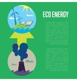 Evolution from industrial pollution to eco energy vector image