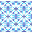 blue background stylized floral pattern vector image