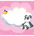 A stationery with a panda vector image