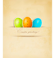 Easter retro background with eggs vector image vector image
