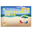 Set of 16 Discontinued Summer Sport Icons vector image