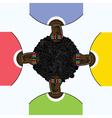 Four men vector image vector image