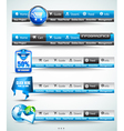 Web Button Bars vector image