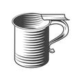 Shaving mug vector image vector image