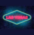 neon las vegas sign vector image