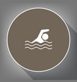 swimming water sport sign white icon on vector image