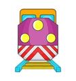 Train locomotive transportation railway icon vector image