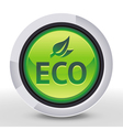ecology icon - eco sign and text on round b vector image vector image
