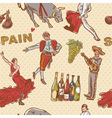 Spain seamless repeating pattern vector image