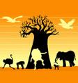african shaman vector image
