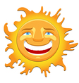cheerful sun vector image