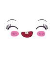 colorful facial expression kawaii laughing vector image