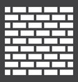 brick wall solid icon security and build vector image
