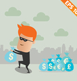 Thief steal money - - EPS10 vector image