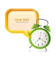 clock banner vector image
