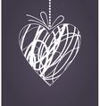 wedding heart2 vector image