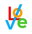 LOVE Colorful Happy Valentines day card 3d vector image