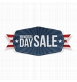 Memorial Day Sale national Label with Ribbon vector image