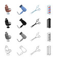 armchair furniture leather and other web icon vector image