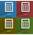Color set calculator Flat modern web button with vector image
