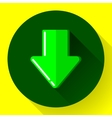 Download icon Upload button Load symbol Flat vector image