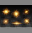golden lights set vector image