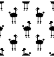 Seamless pattern Dogs on a white background vector image