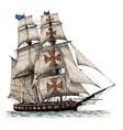 Ship 02 vector image