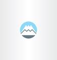 snow mountain icon sign symbol vector image