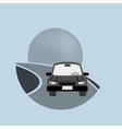 car on the road transport image vector image